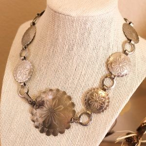 Vintage Silver Concho Necklace